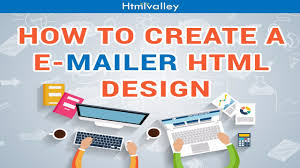 how to create html mailer template design youtube