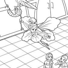 picture barbie thumbelina coloring pages place color