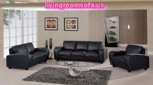 Deluxe Design Black Leather Sofa White Living Room - Living room decor with black leather sofa