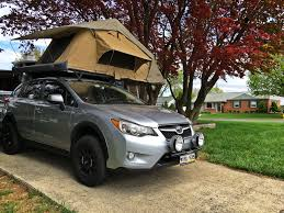 subaru crosstrek black wheels 2014 subaru xv crosstrek overland build ok4wd