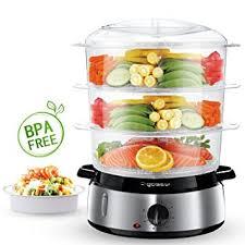cuisine à la vapeur aigostar fitfoodie steel 30ina cuiseur vapeur électrique 0 bpa