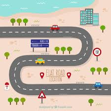 road map road map in flat design vector free