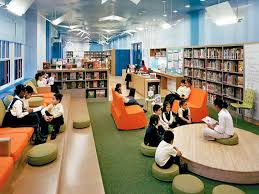 Librerias  ARQ Pinterest School Library Design And Interiors - Library interior design ideas