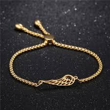 gold charm link bracelet images Women stainless steel charm bracelet gold steel rose gold chain jpg