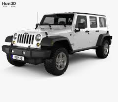 black jeep liberty jeep wrangler rubicon hardtop 2010 3d model hum3d