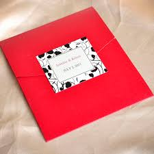 Blank Wedding Invitation Kits Modern Red And Black Pocket Printable Wedding Invitation Kits