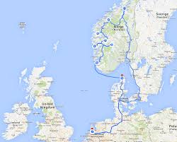 Norway World Map by Norway Road Trip Map Fashion Food Travel And Lifestyle