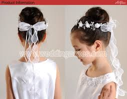 communion headpiece flower with twisted pearls and communion