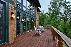 deck color schemes deck rustic with pine green window trim wall