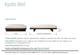 Super King Size Bed Dimensions Kyoto Japanese Style Bed Low Beds Natural Bed Company