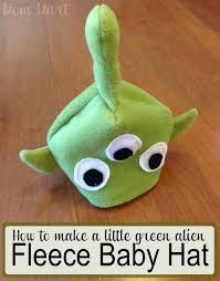 mom mart how to make a little green alien fleece baby hat diy