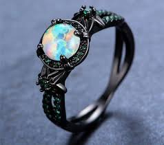 black opal rings images Black gold white fire opal ring my style pinterest jewelry jpg