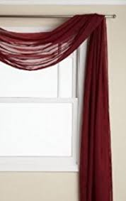 Sheer Maroon Curtains 3 Burgundy Sheer Voile Curtain Panel Set 2
