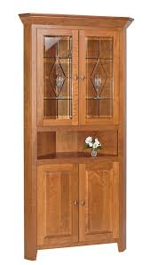 diamond elements 2 door corner hutch ohio hardwood furniture