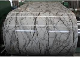 Marble Grain Laminated Metal Sheet Elevator Cabs Decorative