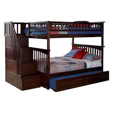 Atlantic Furniture Columbia Staircase Full Over Full Bunk Bed - Stairs for bunk beds