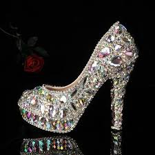 wedding shoes rhinestones 25 best rhinestone heels ideas on silver rhinestone