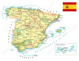 Map Of Spain And Surrounding Countries by 7 957 Spain Map Stock Illustrations Cliparts And Royalty Free