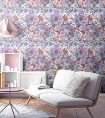 floral wallpaper bold photography collage uk flowers surface house