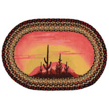 Braided Doormat Southwest Rugs And Cowhide Rugs Lone Star Western Décor