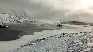arctic sea smoke nuuk cc youtube