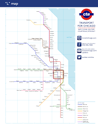 Cta Map Chicago Unofficial Map Chicago U201cl U201d As The London Transit Maps