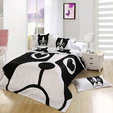 Bedroom King Size Bed Comforter by Black And White Dog Print Bedding Set Bedroom Queen Full Size