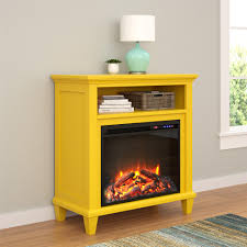 Yellow Accent Table Ameriwood Furniture Ellington Electric Fireplace Accent Table Tv
