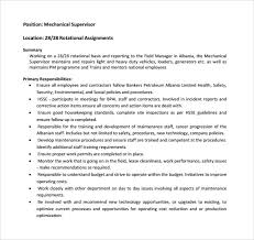 Supervisor Sample Resume by Supervisor Resume Templates