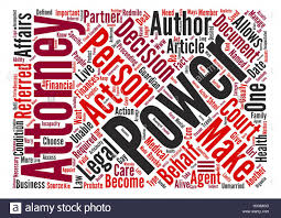 What Is Power Of Attorney by What Is Power Of Attorney Text Background Word Cloud Concept Stock