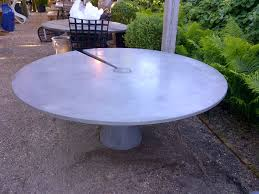 round patio stone large round concrete slice dining table mecox gardens