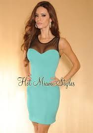 tiffany blue black mesh top sleeveless dress