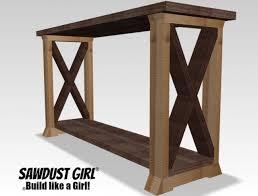 build a console table box leg console table sawdust