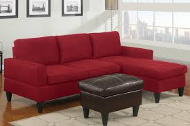 furniture comfortable red sectional apartment size sofa with