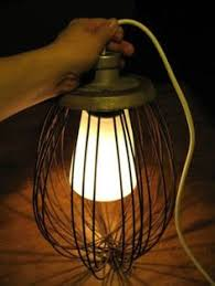 Creative Lighting Fixtures An Old Whisk Turned Into An Easy Stylish Lamp So Cool For Some