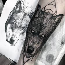 awesome geometric wolf forearm ideas for