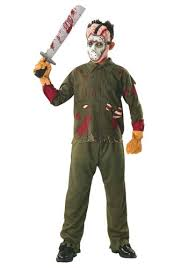 scary costumes for kids jason voorhees child deluxe costume scary friday the 13th costumes