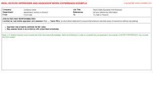 Real Estate Appraiser Resume Real Estate Appraiser And Assessor Job Title Docs