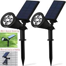 Solar Led Light Kit by Best Waterproof Outdoor Solar Led Wall Landscape Security