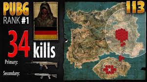 pubg rankings pubg rank 1 marcoopz 34 kills eu duo playerunknown s