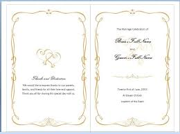 sle wedding programs templates beautiful microsoft wedding program template images styles