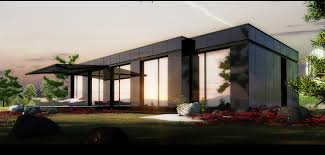 affordable house modern bungalow house idea features cream and grey house design