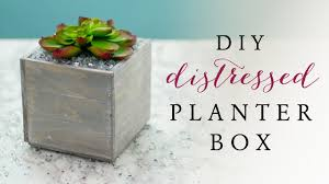 How To Make Planter Boxes by How To Make A Planter Box Diy Planter Box Youtube