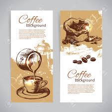 banner set of vintage coffee backgrounds menu for restaurant