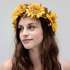sunflower headband ukrainian sunflower headdress search wedding ideas