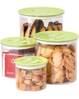 get the deal stor u0027n style 4 piece glass canister set