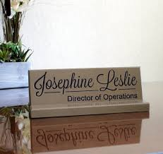 Desk Signs For Office Desk Name Plate Personalized Desk Sign Engraved Solid