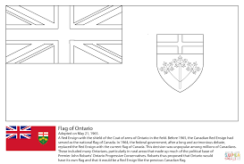 flag of ontario coloring page free printable coloring pages