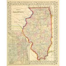 State Of Illinois Map by Map Illinois 1867 Original Art Antique Maps U0026 Prints