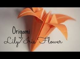 cara membuat bunga iris dari kertas origami hd origami lily iris flower origami instructions youtube